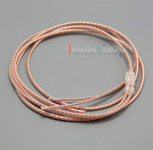 Bulk 1.2m Pure 5N PCOCC Headphone Earphone Cable DIY Custom or repair earphone wire(China)