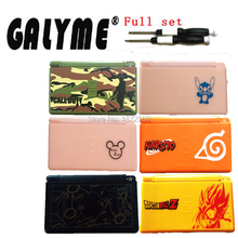 New Arrival Multi Cartoon Shell Case NintendoNDSL DSL DS Lite Plastic Housing W/Buttons Screen Full Set Game Console Boy Gift(China)