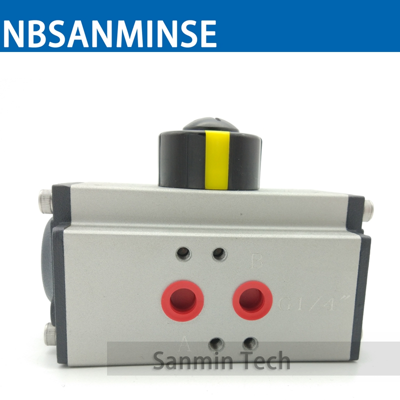 AT-D Double-Action Air Torque Ball Valve Butterfly Valve Pneumatic Actuator Equipped Valves High Quality Sanmin<br>