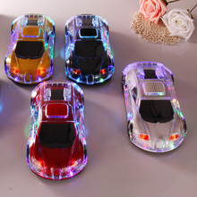 Wholesale Crystal Car Model Bluetooth LED Speaker Stereo Hifi Sound Box Sports Wireless Loudspeaker TF MP3 Player FM Aux Mic 520