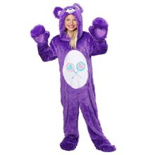 Comfortable Children Classic Share Bear Purple Costume Cute Kids Plush Jumpsuit(China)