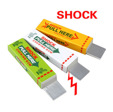 Funny Safety Trick Joke Toy Fun Shock Chewing Gum Electric Toys Chewing Gum Pull Head Practical Jokes Fantastic for Kids Gift