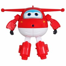 SHINEHENG Big!!! Super Wings ABS Planes Deformation Airplane Robot Toys JETT Action Figure Boys Birthday Gift Brinquedos(China)