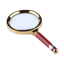 1Piece 60mm Handheld Reading Magnifier Watch Phone Repair Magnifying Glass Imitation Wood Handle Lupa Loupe