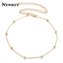 NEWBUY 2017 2Color Silver/Gold-Color Choker Necklaces Jewellery For Women Collares Alloy Link Chain Short Necklace