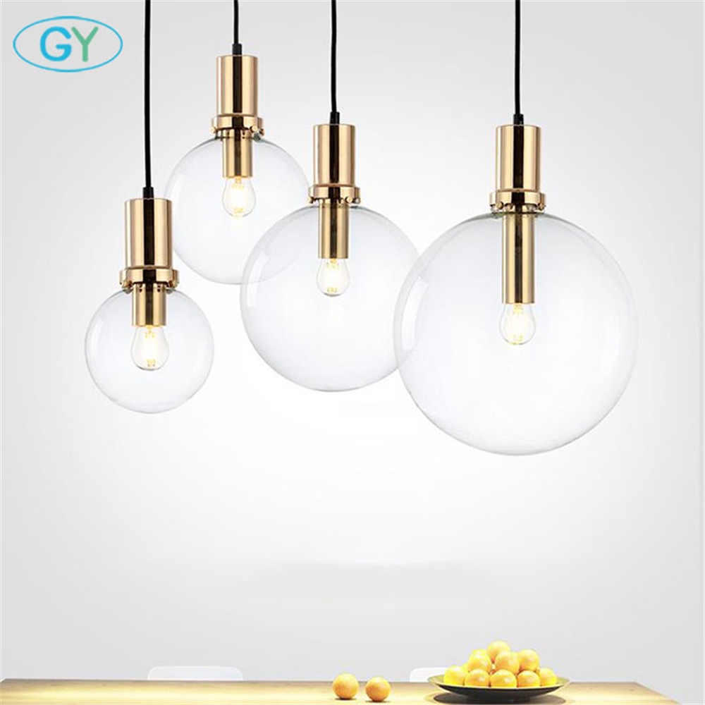 Art Designer Modern LED pendant light black gold glass kitchen dining room hanging lamp LED bar restaurant home pendant lights <br>