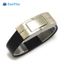 EastVita Fashion Design Metal Bracelet USB 2.0 Flash Drive Wrist Band Pendrive 8GB 16GB 32GB Pen Driver Memory Stick U Disk AR30