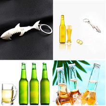 Unisex Creative Beer Bottle Shark Bottle Opener Easy Open Keychain Keyring Gift Finger Ring Ring-Shape Beer Bottle Opener(China)