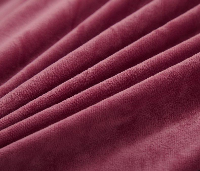 3Pcs Fleece Bed Skirt Set W/ Pillowcases, Mattress Protective Cover 19