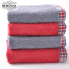 New 2017 Brand Bath Towels Beach Towel Cotton Bath Towels for Home&Hotel Bathroom Plaid Towels Free shipping(China)