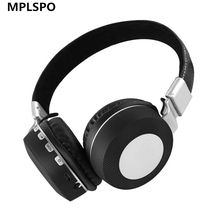 Buy MPLSBO Noise Reduction MP3 FM Wireless Bluetooth Headphones metal wireless stereo Headset microphone mobile phones for $20.78 in AliExpress store