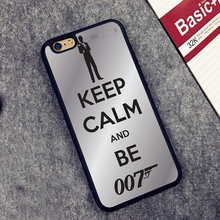 Keep Calm and Be 007 Printed Soft Rubber Mobile Phone Cases Accessories For iPhone 6 6S Plus 7 7 Plus 5 5S 5C SE 4 4S Cover