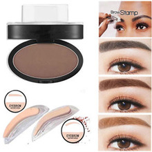 2017 Eye Makeup Seal Shape Eyebrow Enhancer Easy to Wear Waterproof Black Brown Eyebrow Powder Makeup Quick Brow Stamp