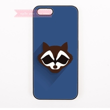 smiling art animals Raccoon face Hard Back Cover Phone Case For iphone 4 4s 5 5s 5c se 6 6S 7 Plus iPod Touch cases minimalist(China)