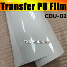 Premium quality white pu transfer film, heat transfer PU VINYL for cutting plotter machine CDU-02 White with size:50CMX25M/Roll