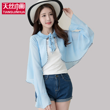 2017 Multifunction Female Cardigans Solid Woman Scarf/Scarves Suncreen Lace Shawl Summer Chiffon Silk Wraps Femme Tippet(China)