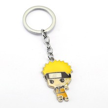 NARUTO Keychain Uchiha Sasuke Itachi Key Ring Holder Chaveiro Car Key Chain Pendant Anime Jewelry Souvenir YS11904