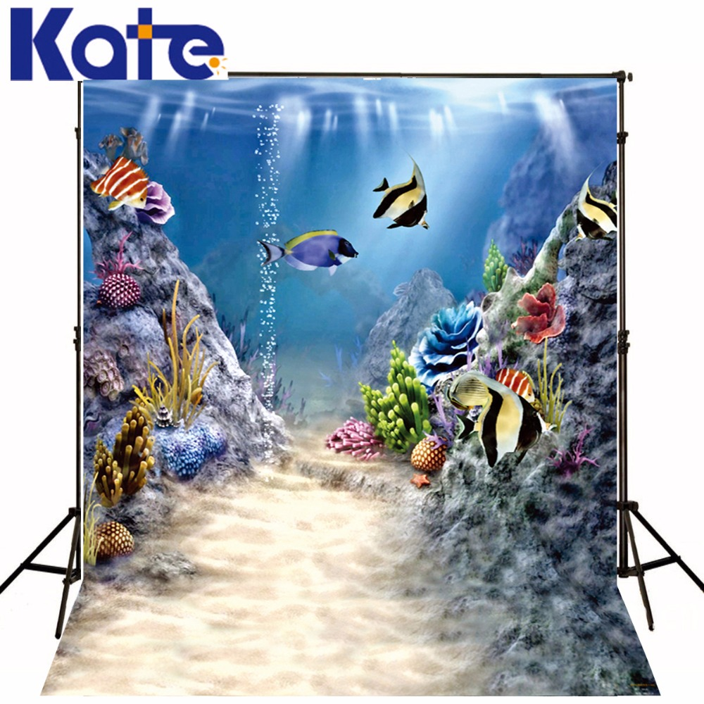 200Cm*150Cm Fundo Aquatic Animal Plant3D Baby Photography Backdrop Background Lk 2173<br>