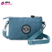 JINQIAOER 3 Layers Mini Brand Women Shoulder Bag Waterproof Nylon Clutch Handbag Wristlets Fashion Messenger Bag Hobo Bag Bolsas