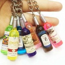 Couple keychain car key ring pendant keychain phone connected to a mobile phone beer bottle wholesale free shipping 4.9 cm(China)