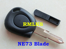5pcs/lot Replacement Shell for RMLKS Clio Megane Laguna Master Traffic Scenic etc. Blank Transponder Key Case NE73 Blade Uncut