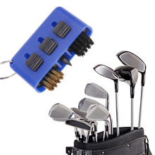 3 in 1 Golf Club Groove Putter Wedge Ball Cleaning Brush Cleaner Portable Spikes Pocket Kit Tool Golf Training Aids Accessories
