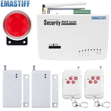 Buy free Intercom home security wireless GSM alarm system 2 year warranty 900/1800/1900MHZ russian,english voice for $30.75 in AliExpress store