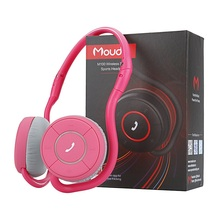 Moudio M100 Smart Sports Headphone Bluetooth Chips Music Pink Running Earphone With Microphone For iphone Samsung Mobile Phones(China)