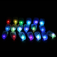 50pcs/lot LED Lamps White Balloon Lights for Paper Lanterns Balloons Wedding Birthday Party Decoration 2016 New