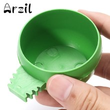 10Pcs/Lot Boxes Bird Feeding Bowl Cage Holder Plastic Round Parrot Aviary Pet Cage Water Food Feeder Pet Bird Feeder Bowl Drop(China)