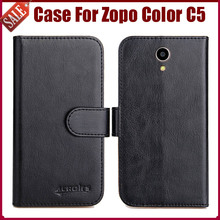 Hot! Zopo Color C5 Case New Arrival 6 Colors High Quality Flip Leather Protective Phone Case Zopo Color C5 Cover