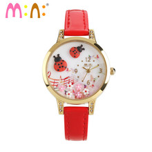 M:N: Korea Mini watch Women watches relogio feminino quartz watches Handmade POLYMER CLAY Children Cartoon WristWatch saat(China)