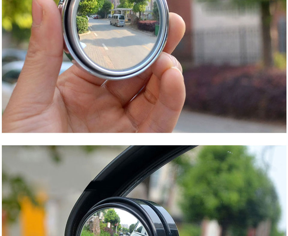 HD Car Blind Spot Mirror 360 Degree Adjustable Wide Angle Horizon Round Convex Auto Side Mirror Vehicle Rearview Safe Driving (19)