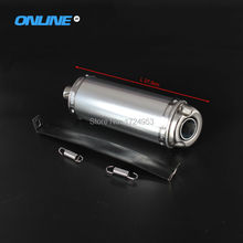 T8 big stainless steel exhaust pipe exhaust Muffler for Off-road motorcycle dirt pit Bike KTM BSE 32mm Tapered Connector