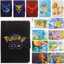 "Universal Pokemon Go Pikachu Dragonite Leather Case Cover for 10.1"" Hp Slate 10 S10 3500us/slate 10 Hd 3600us Android Tablet Pc"