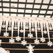 2 Pieces White Ice Strip With Snowflake Christmas Xmas Decoration Ornament Festival Party(China)