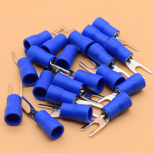 SV2-3 Blue Cold pressed terminals Cable Wire Connector 100PCS/Pack Insulated Terminals Connector for 22AWG-16AWG cable 2.5-3 SV