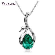 Wholesale Fashion Accessories Jewelry CZ Rhinestone Swan Pendant Necklace for Women Fashion Women Statement Necklaces