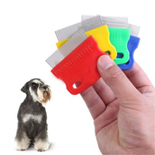 Pet Dog Cat Clean Comb Grooming Tool Steel Small Fine Toothed Comb Catching Lice(China)