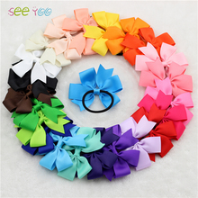 "Buy 24Pcs 3"" Grosgrain Ribbon Bow Elastic Hair Bands little Girl Boutique Bows headband hair accessories Kids Hair rope for $8.04 in AliExpress store"