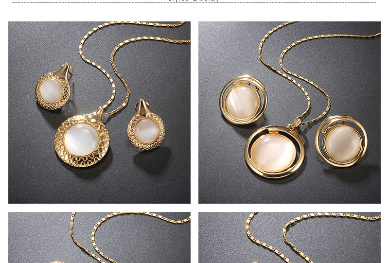 BTSETS Luxury Jewelry Sets Opal Women Dubai Jewelry Sets Round Party Vintage Turkish Jewelry Gold Color Indian Jewellery (3)
