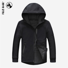 Hot Sell Autumn Army Soft Shell Jacket Men Solid Color Hooded Tactical Jackets Windproof Windbreaker Coats Men Casual Field Base(China)