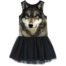 Girls Tulle dress  Kids Ballerina Ballet Dance Party Yarn best dress Clothes Children The nice Wolf dresses baby  dresses nice