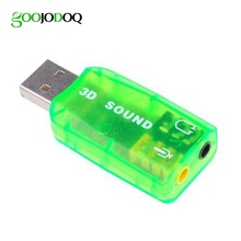 USB Sound Card USB Audio 5.1 External Adapter microphone Speaker Audio Interface For Laptop PC Data 3.5mm cm108(China)