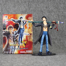 One Piece Action Figure Trafalgar D Water Law Sword PVC Doll Japanese Anime Model Toy 7'' 18cm(China)