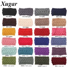 Winter Crochet Braid Headband For Women Handmade Knit Knitted Headwrap Girls Fashion Ear Warmer Hair Accessories(China)