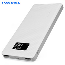 Genuine PINENG PN - 963 10000mAh Portable Battery Mobile Power Bank USB Charger Li-Polymer with LED Indicator(China)