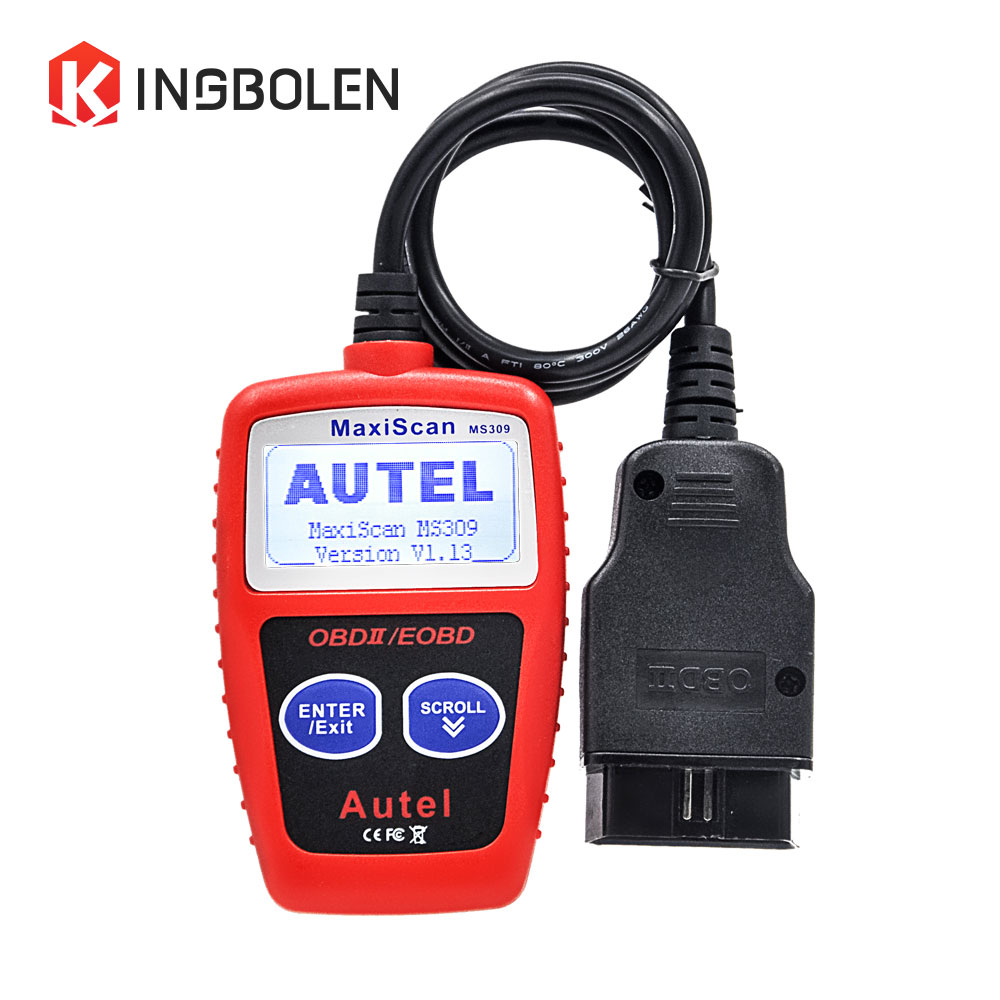 Autel Maxiscan MS309 OBD/OBDII Scanner Diagnostic Tool MS 309 CAN OBDII Code Reader Maxiscan MS309 Multi-language Read Car Info(China (Mainland))
