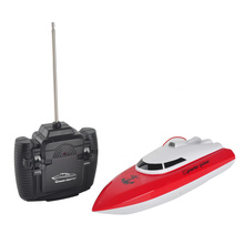 Fast electric charging outdoor toys remote control toys rc boat 4 Channels Waterproof Mini speed boat Airship gift for girls boy(China)