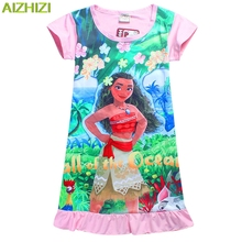 children's clothing design of Europe and the United States with a crazy little girl dress the primitive cartoon girls nightgown